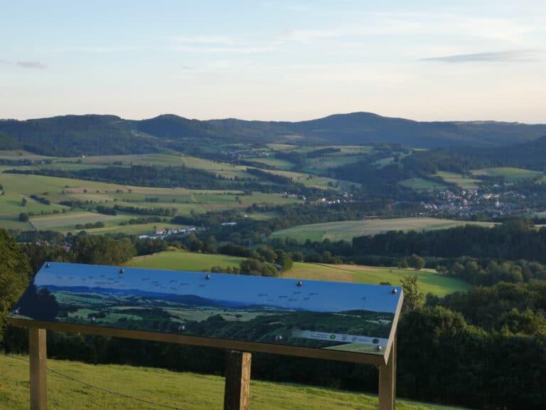 Der Feldberg bietet eine wunderbare Aussicht auf den Gersfelder Talkessel