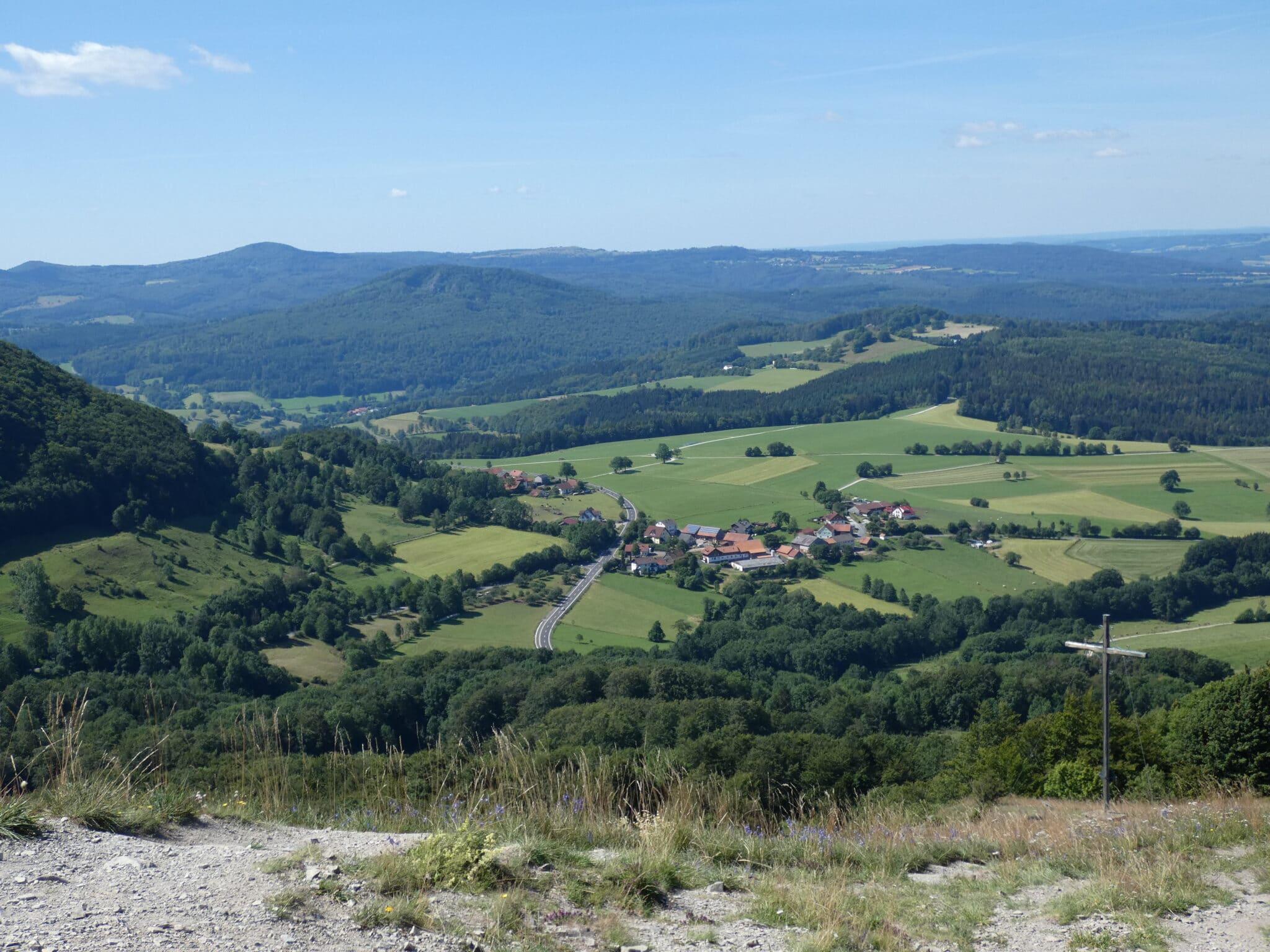 Der Blick vom Pferdskopf Richtung Gersfeld